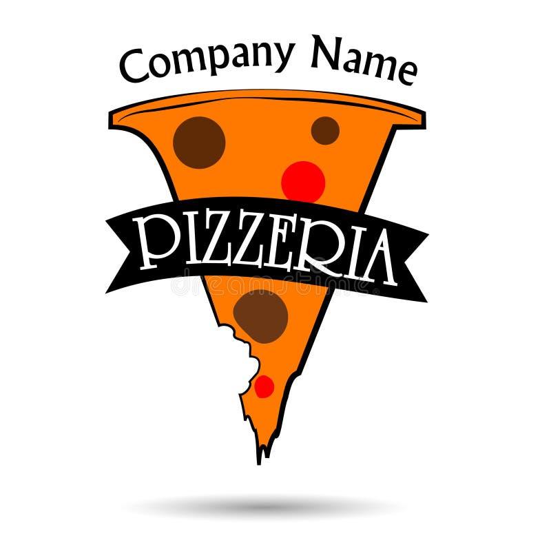 Het embleemontwerp van de pizza   royalty-vrije illustratie