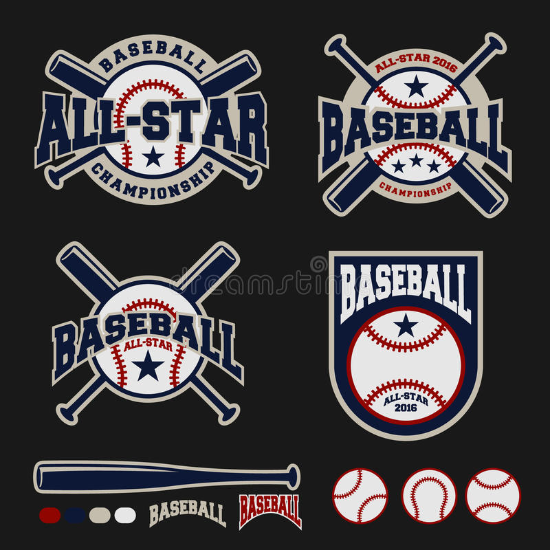 Het embleemontwerp van het honkbalkenteken voor emblemen vector illustratie