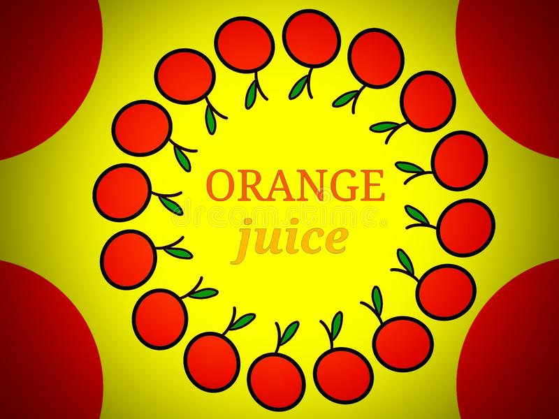 Het Embleemontwerp van het jus d'orangeetiket stock foto's