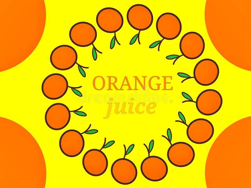 Het Embleemontwerp van het jus d'orangeetiket royalty-vrije stock afbeelding