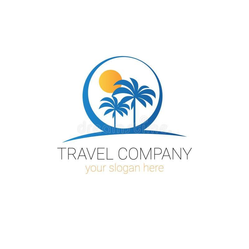 Het Embleemontwerp van Logo Template Tourism Agency Creative van het reisbedrijf royalty-vrije illustratie