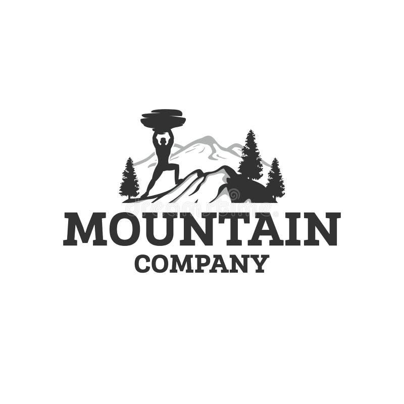 Het embleemontwerpen van bergsporten royalty-vrije illustratie