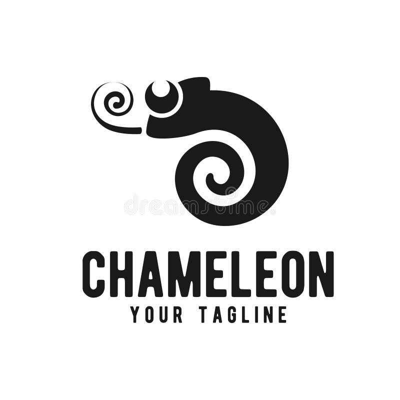 Het embleemontwerpsjabloon van het kameleonpictogram vector illustratie