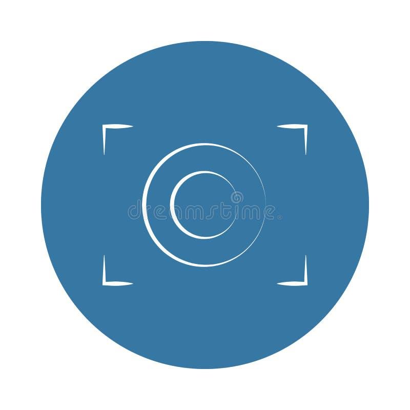 het embleempictogram van de cameranadruk Element van fotopictogrammen voor mobiel concept en Web apps Van de de cameranadruk van  stock illustratie