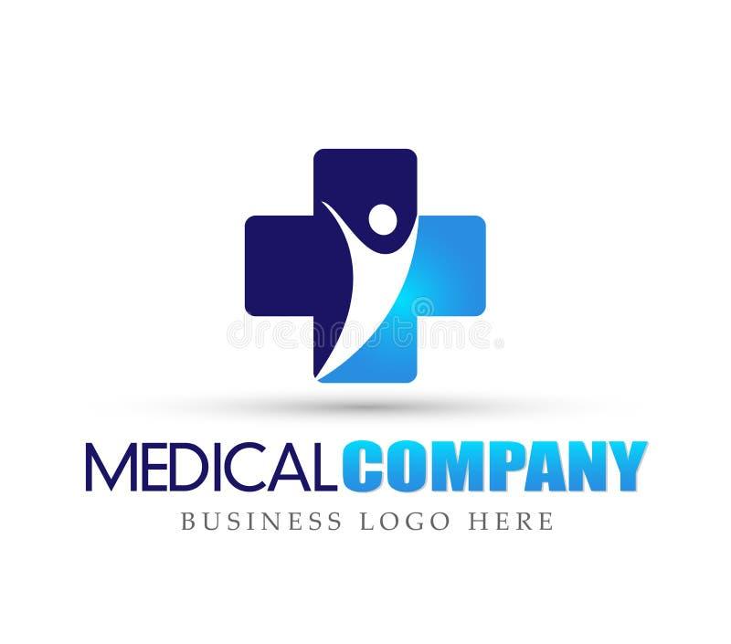 Het embleempictogram van de medische behandeling dwarsfamilie op witte achtergrond royalty-vrije illustratie