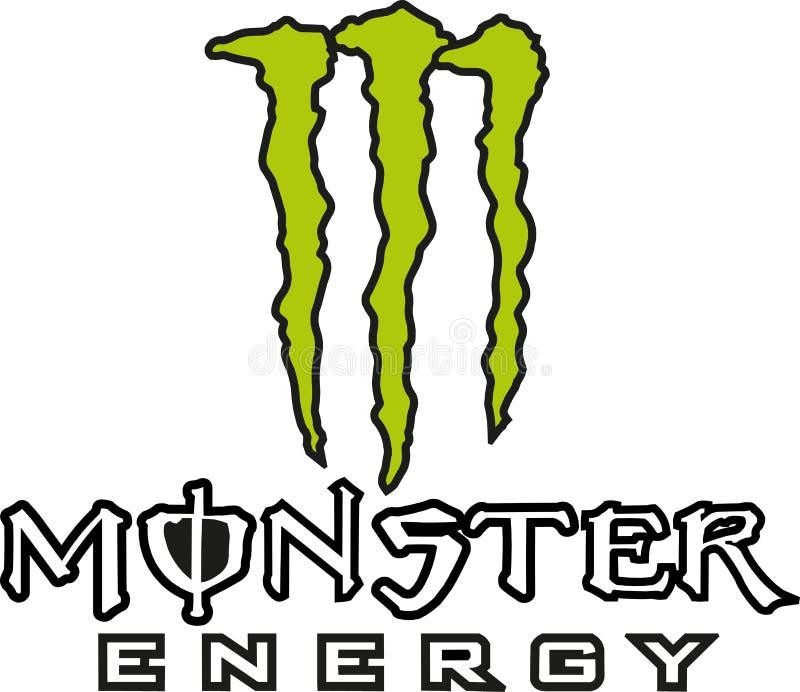 Het embleempictogram van de monsterenergie