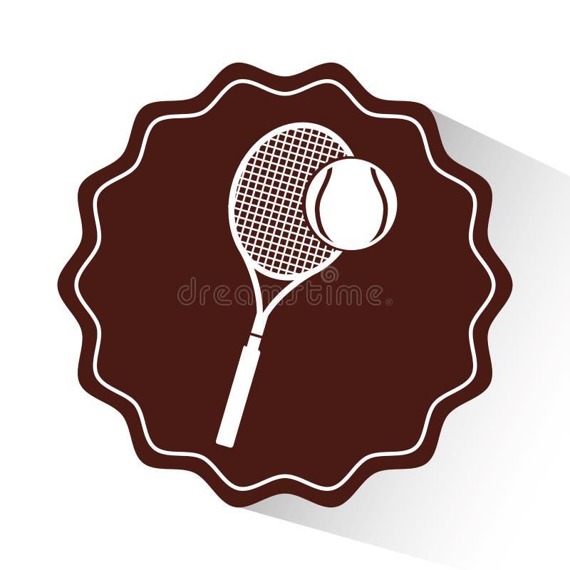 het embleempictogram van de tennissport vector illustratie
