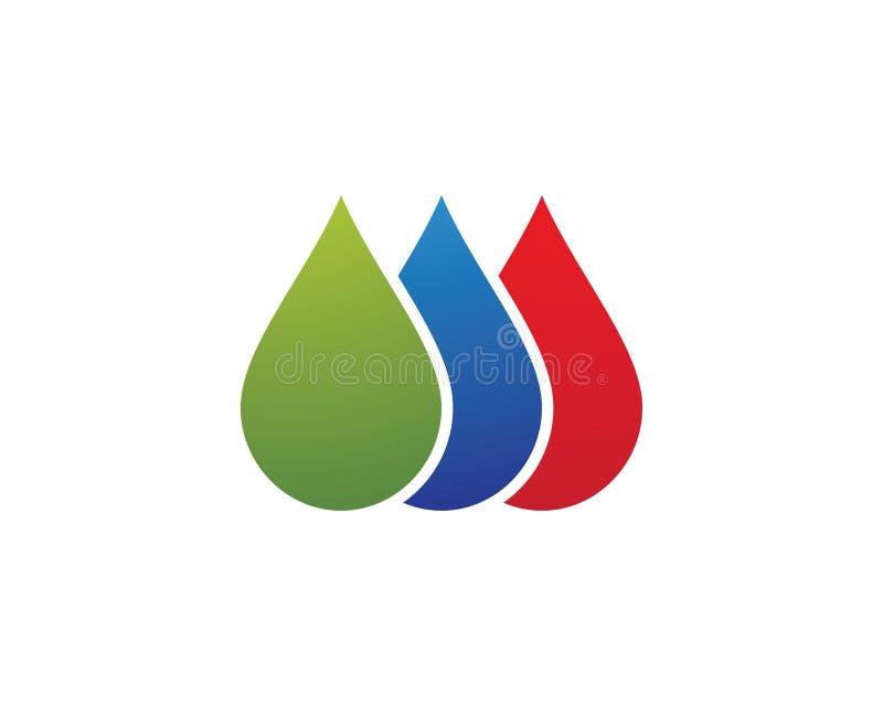 Het embleempictogram van de waterdaling royalty-vrije stock afbeelding
