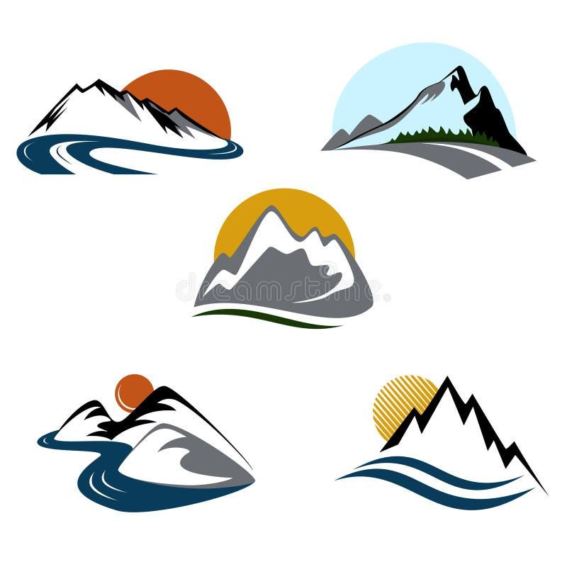Het embleemreeks van bergen
