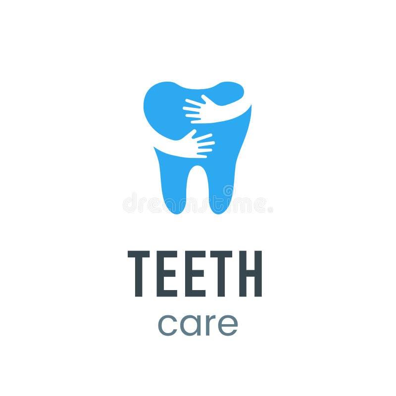 Het embleemteken van de tandenzorg royalty-vrije illustratie