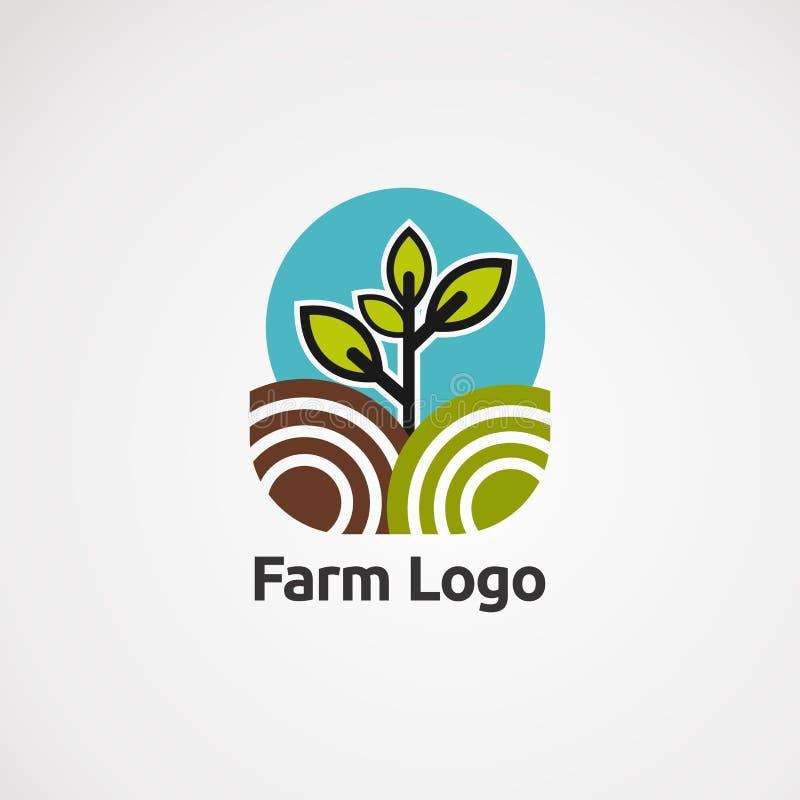 Het embleemvector, pictogram, element, en malplaatje van de sterdoek voor bedrijf vector illustratie