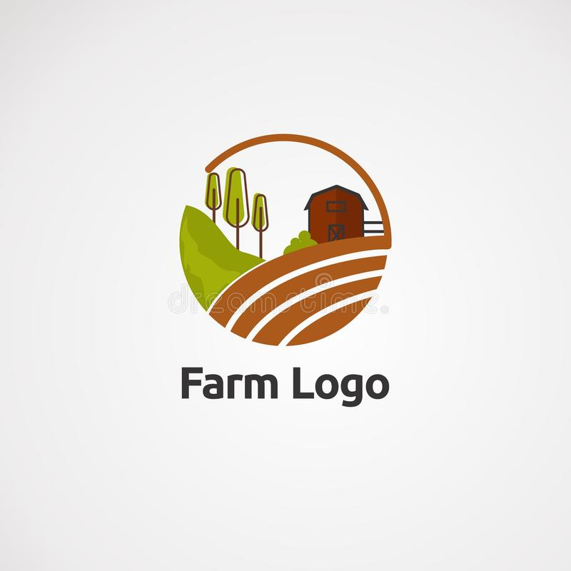 Het embleemvector, pictogram, element, en malplaatje van de sterdoek voor bedrijf royalty-vrije illustratie