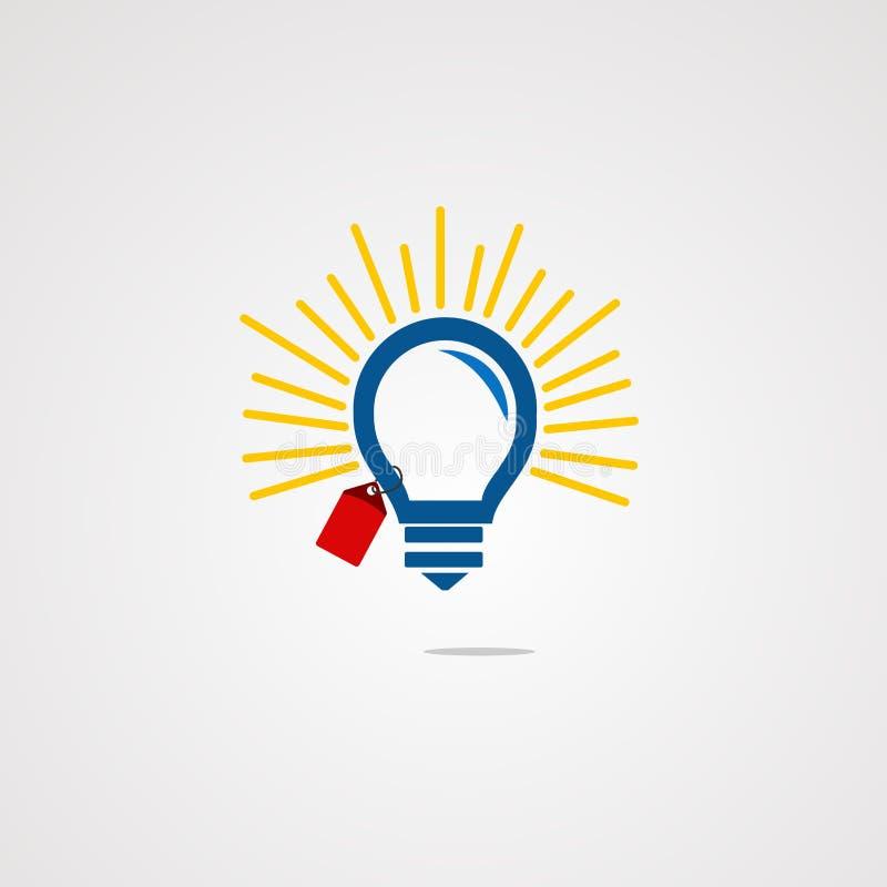 Het embleemvector, pictogram, element, en malplaatje van het verkoopidee voor bedrijf stock illustratie