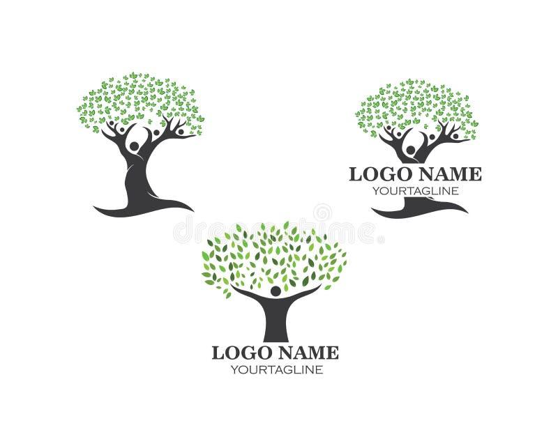 het embleemvector van de mensenboom royalty-vrije illustratie