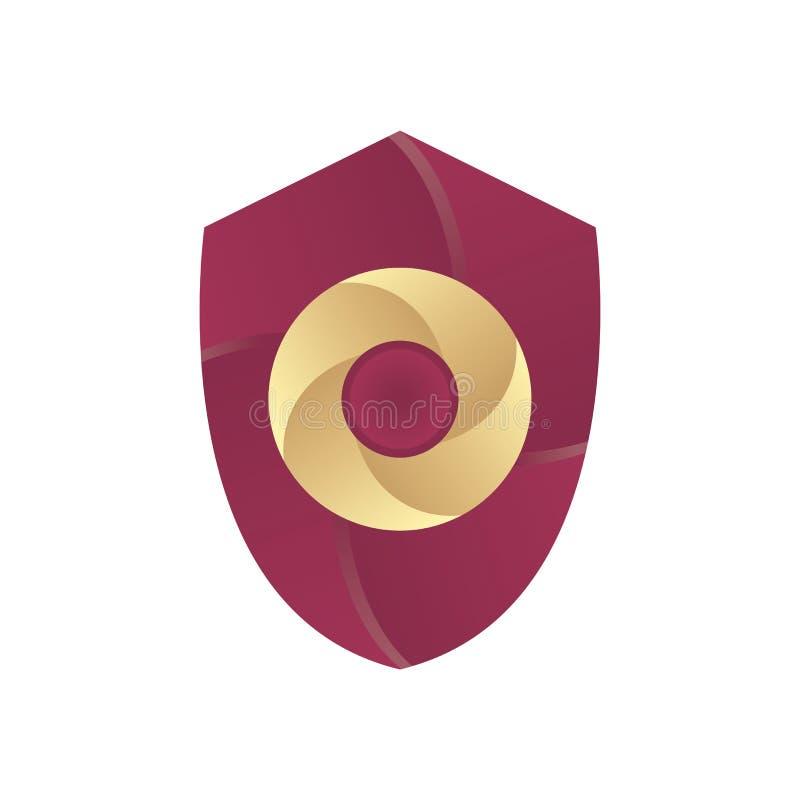 Het Embleemvector van de schildcirkel royalty-vrije illustratie