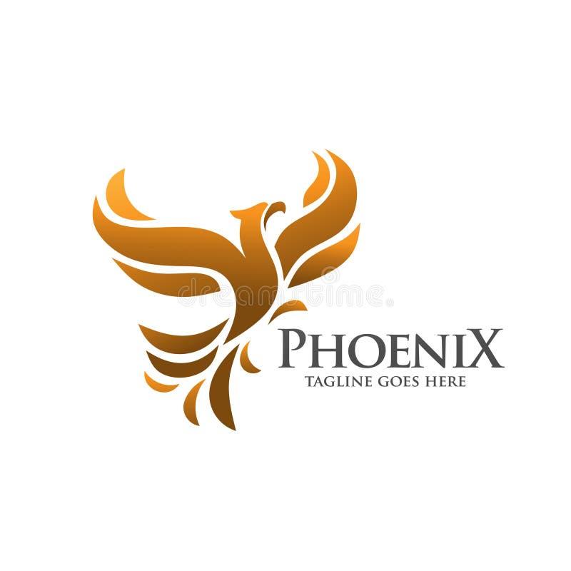 Het embleemvector van Phoenix stock illustratie