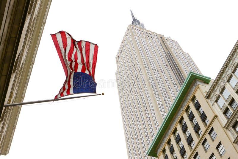 Het Empire State Building, de Stad van Manhattan, New York, de V.S. stock fotografie