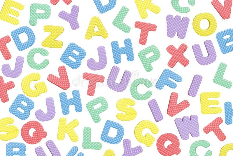 Het Engelse die patroon van de alfabetbrief op witte achtergrond wordt geïsoleerd royalty-vrije stock fotografie