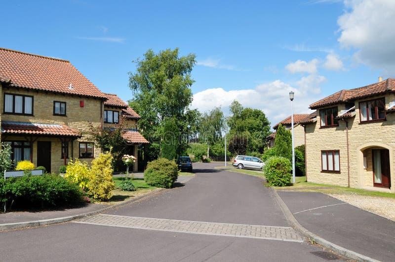 Het Engelse Landgoed van de Huisvesting stock fotografie