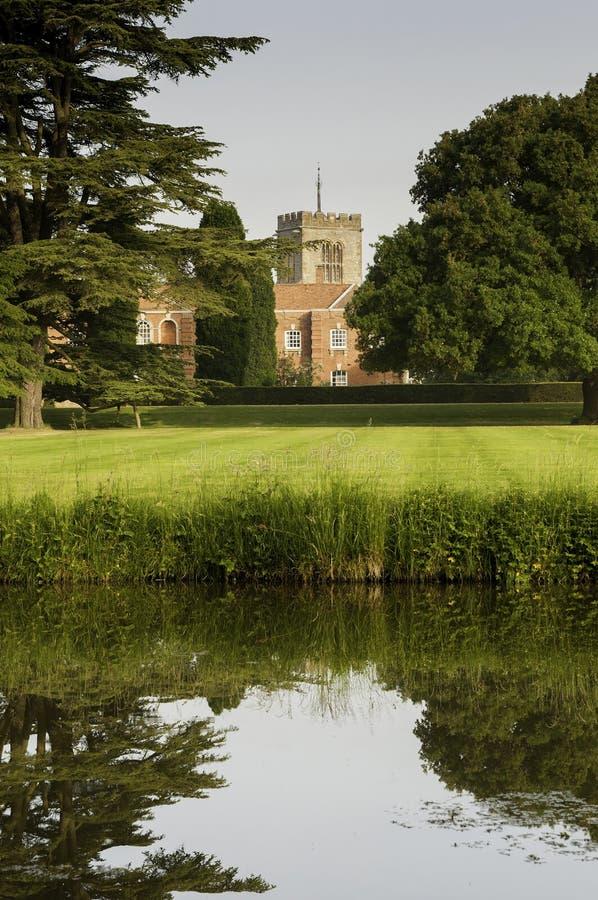 Het Engelse landgoed van het land royalty-vrije stock foto