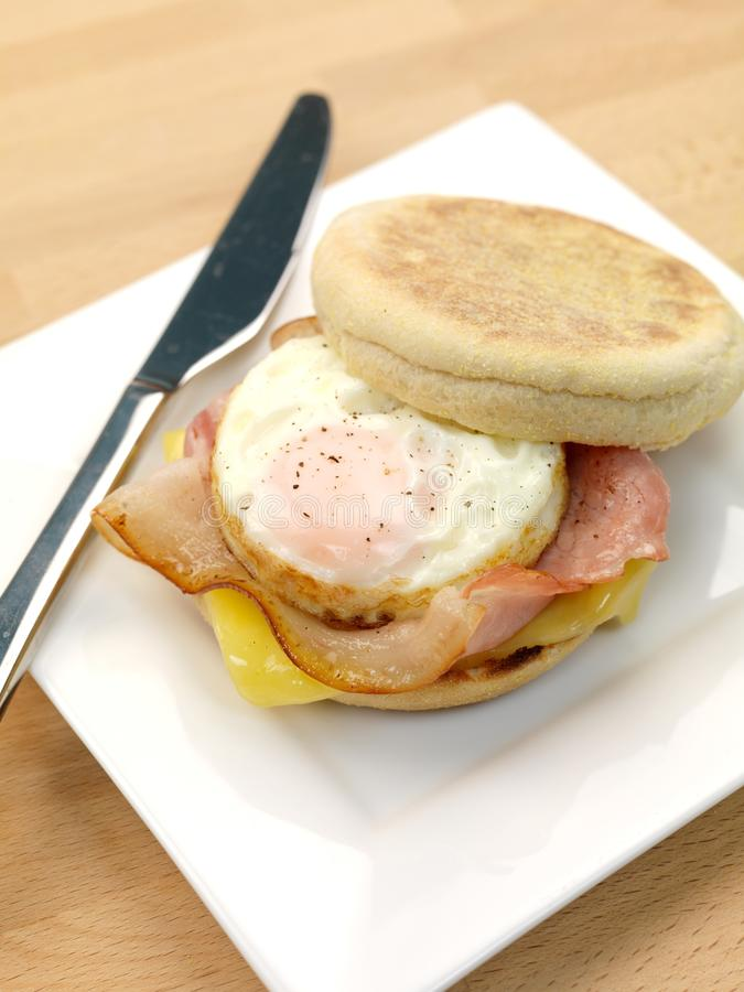 Het Engelse Ontbijt van de Muffin stock foto's