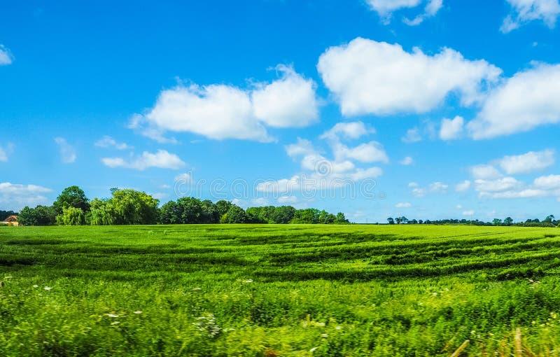 Het Engelse panorama van het land (hdr) royalty-vrije stock afbeelding