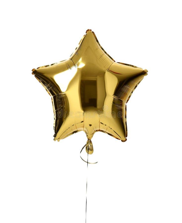 Het enige grote gouden voorwerp van de sterballon voor verjaardagspartij royalty-vrije stock foto