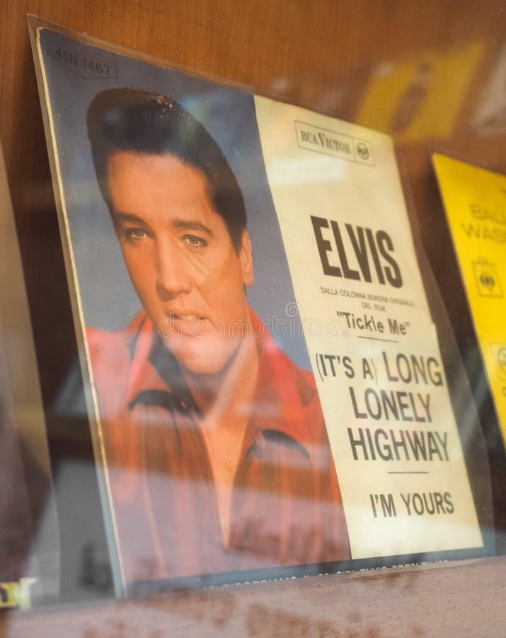 Het enige verslag van Elvis Presley stock afbeelding