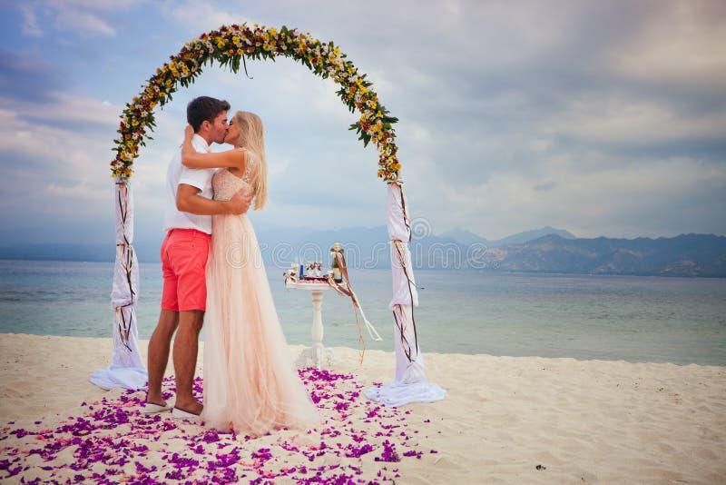 Het enkel Gehuwde paar van het huwelijk stock foto