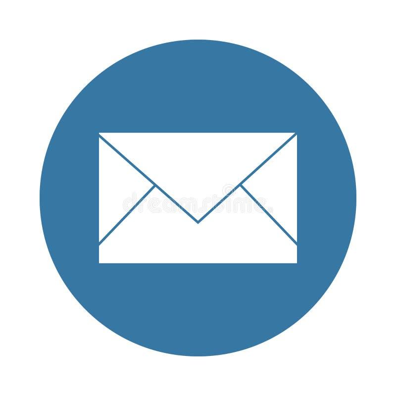 het enveloppictogram in Kentekenstijl royalty-vrije illustratie