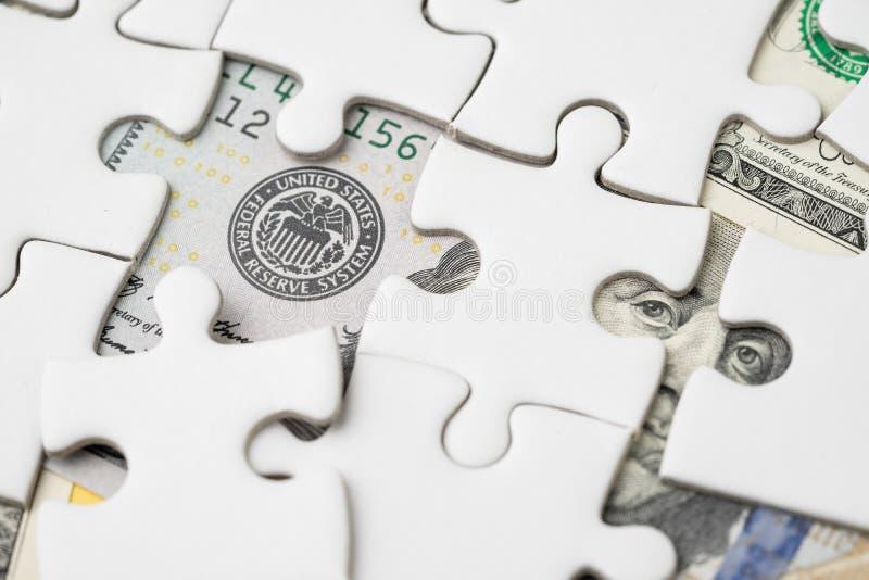Het EOF-strategie van rentevoetstijging, de vin van de Verenigde Staten van Amerika stock fotografie