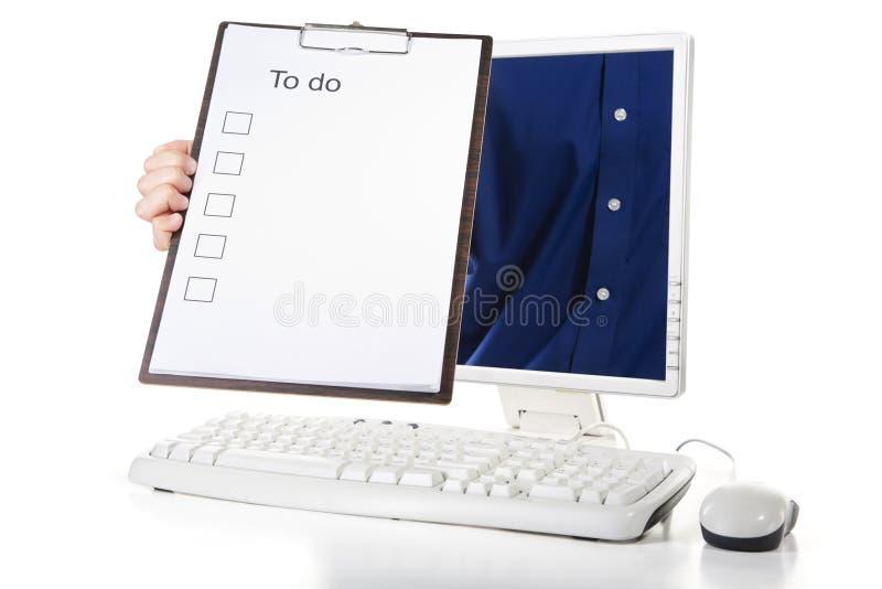 Het eraan herinneren om lijst te doen stock foto's