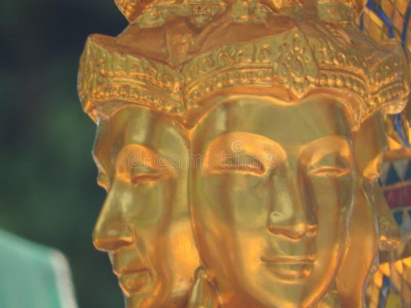 Het Erewanheiligdom met vier zag Boedha onder ogen stock afbeeldingen