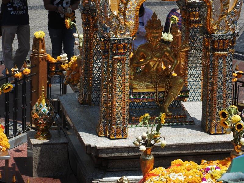 Het Erewanheiligdom met vier zag Boedha onder ogen royalty-vrije stock afbeeldingen