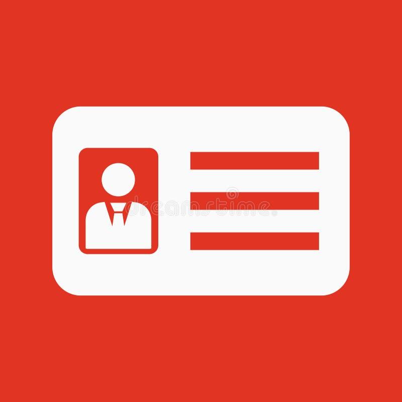 Het erkenningspictogram Toelating en kenteken, identificatie, pas, het symbool van de bestuurdersvergunning vlak vector illustratie
