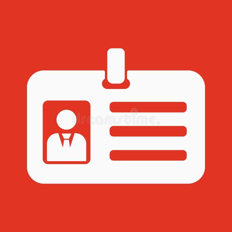 Het erkenningspictogram Toelating en kenteken, identificatie, passymbool stock illustratie
