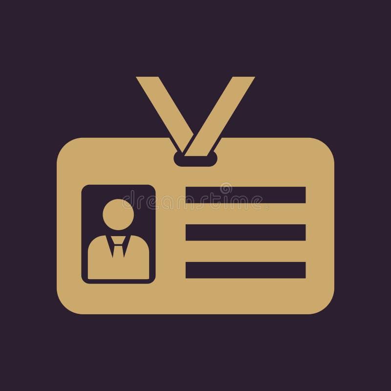 Het erkenningspictogram Toelating en kenteken, identificatie, passymbool royalty-vrije illustratie