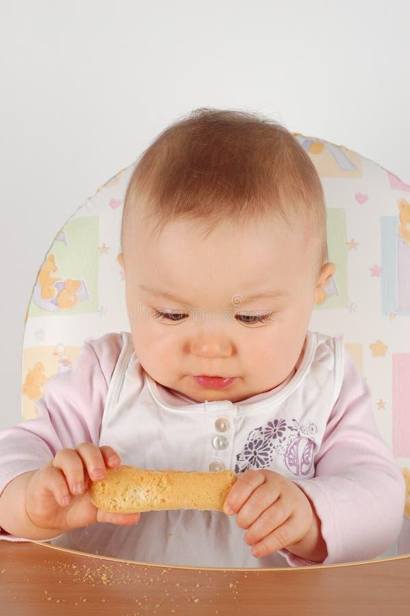 Het eten van baby royalty-vrije stock foto's