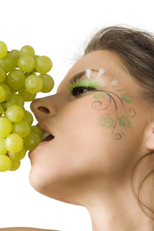 Het eten van druif royalty-vrije stock fotografie
