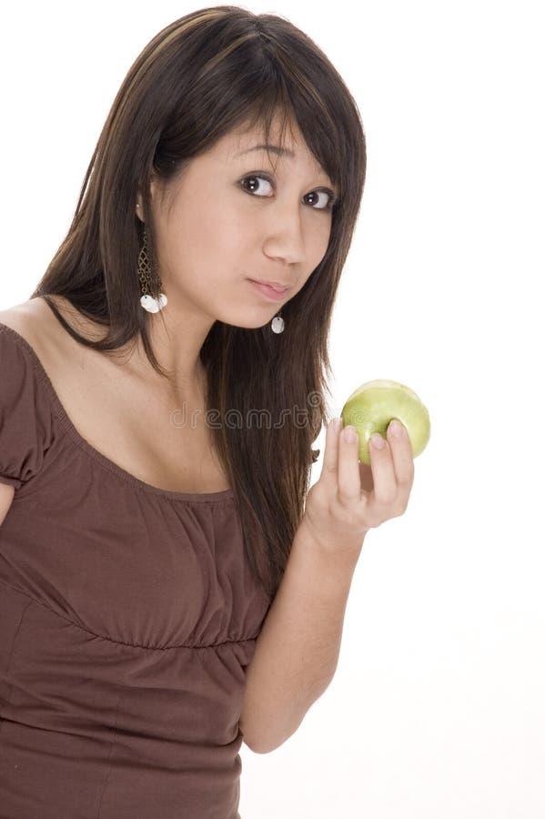 Het eten van een Appel royalty-vrije stock afbeeldingen