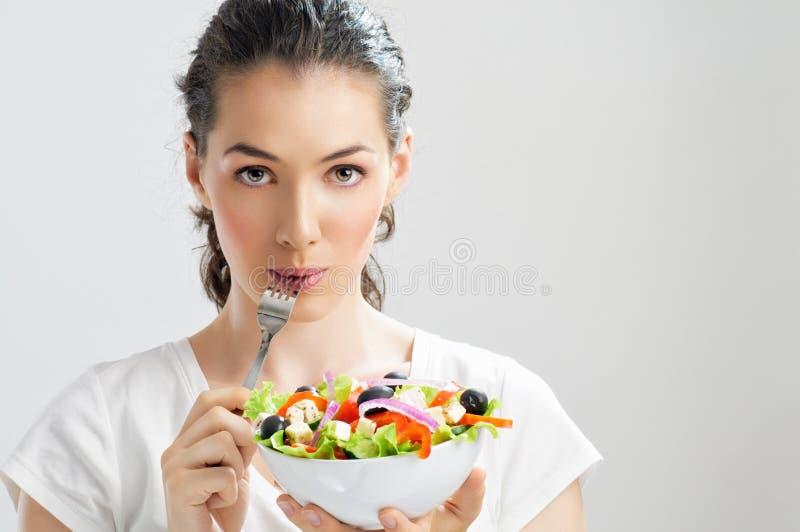 Het eten van gezond voedsel royalty-vrije stock fotografie