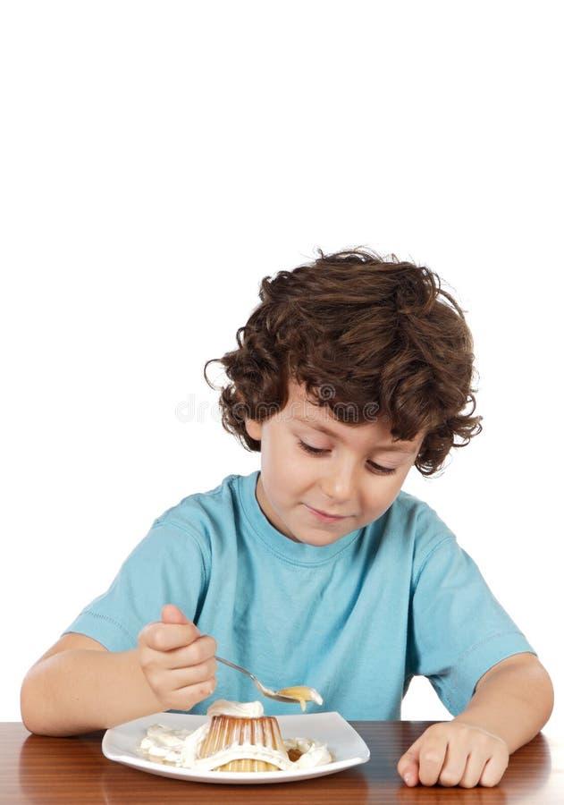 Het eten van het kind stock afbeelding