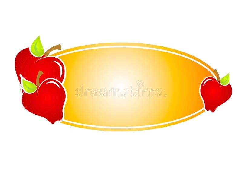 Het Etiket van appelen of Het Embleem van de Web-pagina royalty-vrije illustratie