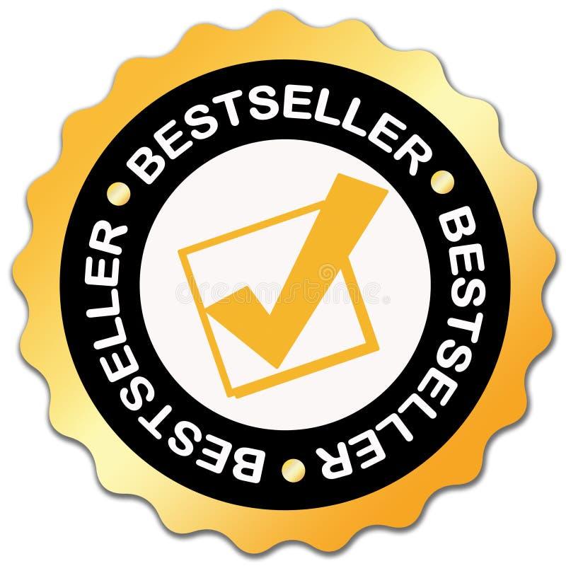 Het etiket van de best-seller stock illustratie