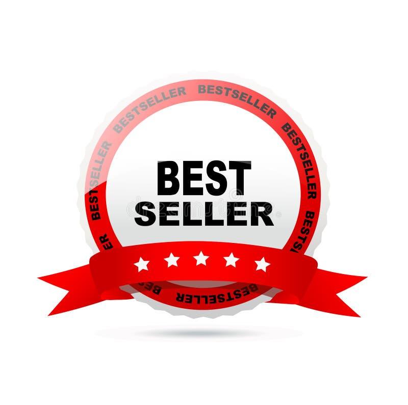 Het etiket van de best-seller royalty-vrije illustratie