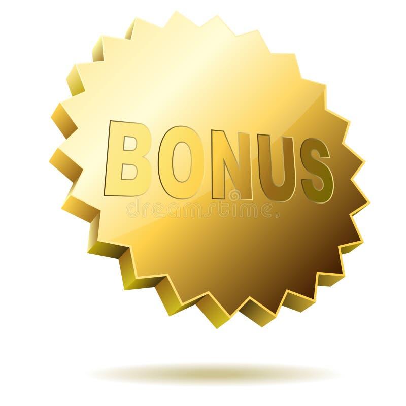 Het etiket van de bonus vector illustratie