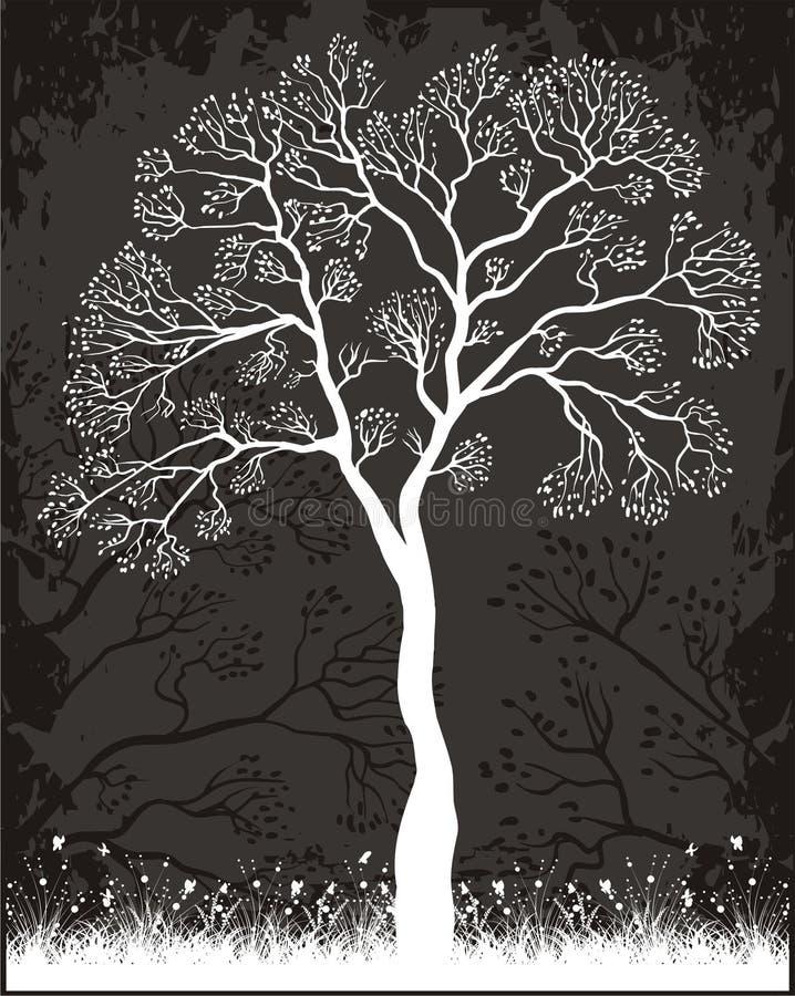 Het etiket van de boom stock illustratie