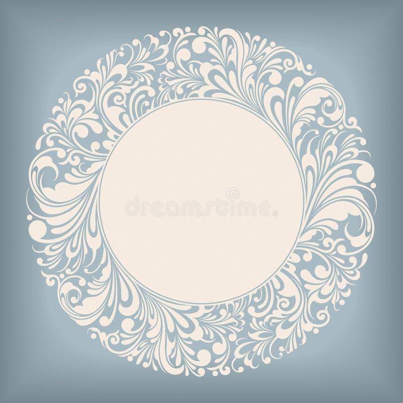 Het Etiket van de Cirkel van het ornament stock foto