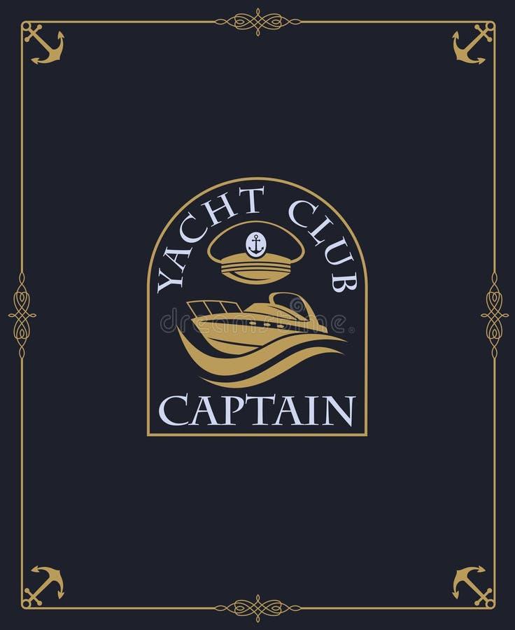 Het etiket van de jachtclub vector illustratie