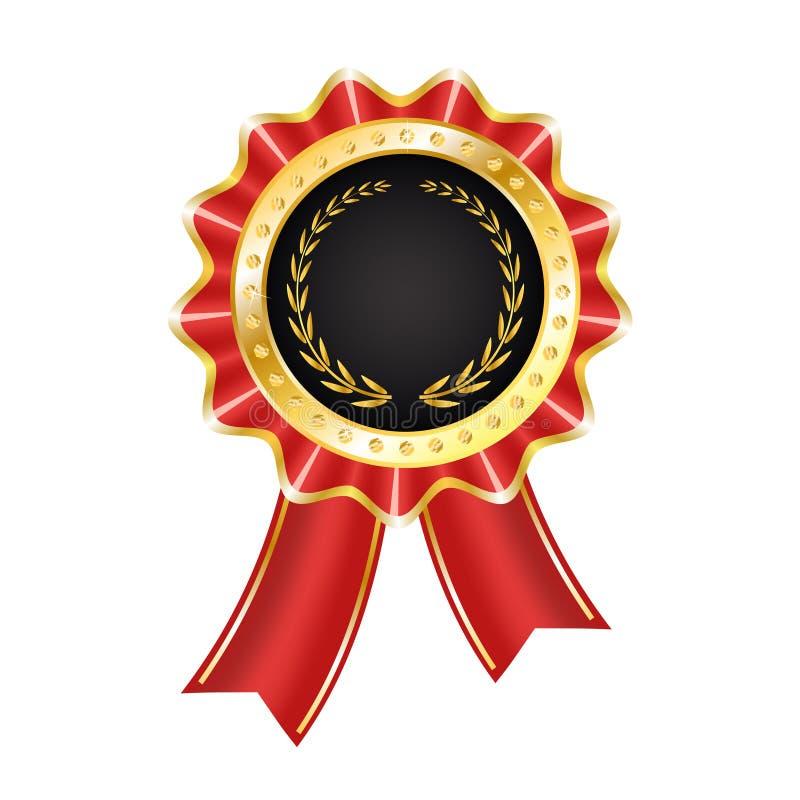 Het Etiket van de toekenning met Lint royalty-vrije illustratie